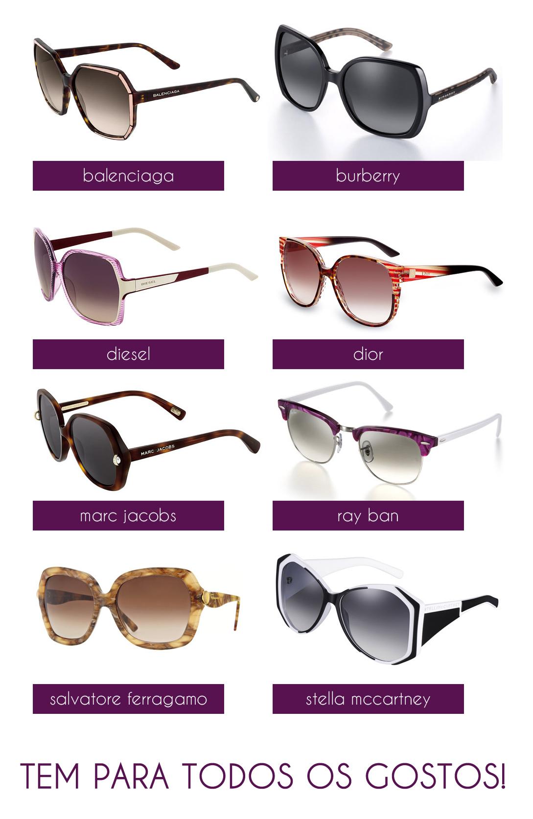 a861fad5a73f3 Quem usa óculos de grau pode escolher um modelo com a lente escura ou usar  lentes de contato! Porque o calorzão está chegando e ninguém merece ficar  com sol ...